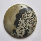 Nature's Paintbrush Jasper 46mm Disc Pendant Bead