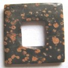 Plum Blossom Jasper 40x40 Square Frame Pendant Bead