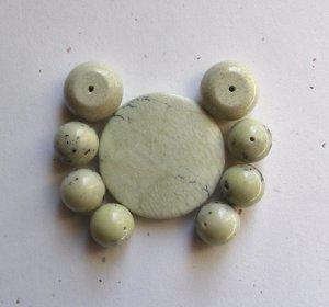 Yellow Turquoise Bead Set