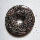 Rhodonite 42mm Donut Pendant Bead