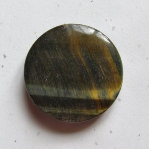 Blue Tiger Eye 40mm Disc Pendant Bead
