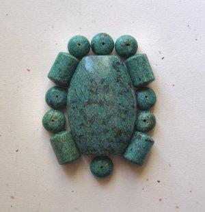 Chrysocolla Jasper Pendant Bead Set