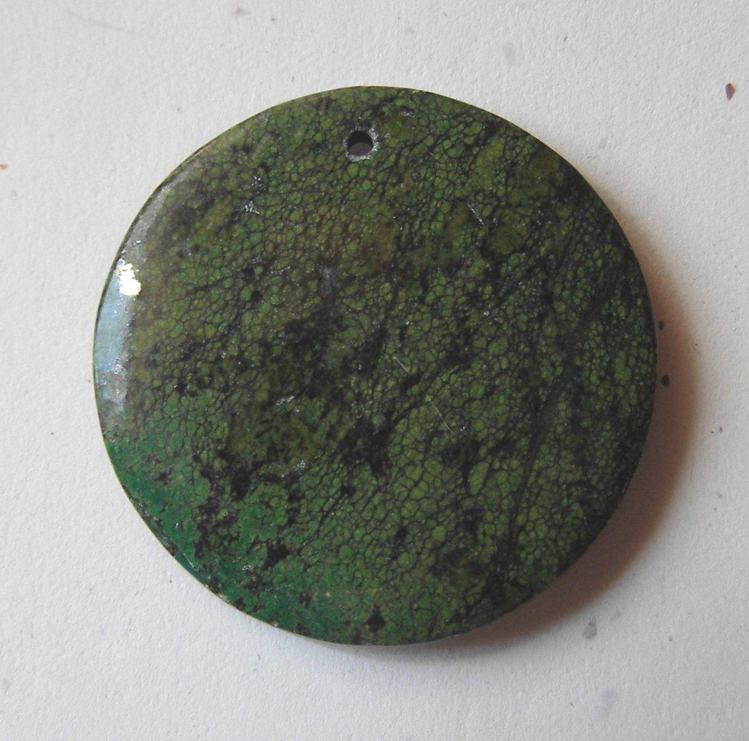 Chrysocolla Jasper 45mm Disc Pendant Bead