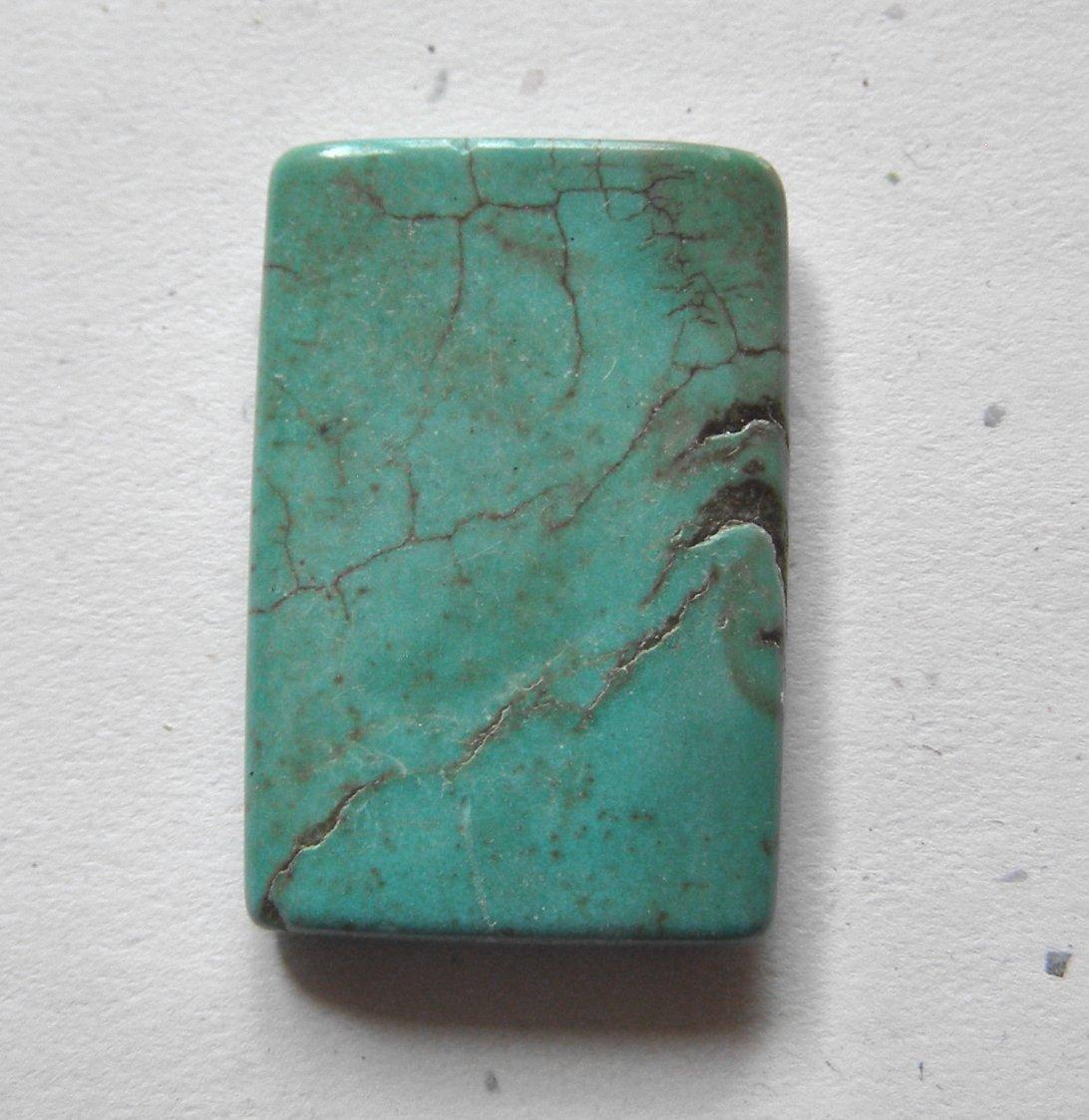 Turquoise 38x26 Rectangle Pendant Bead