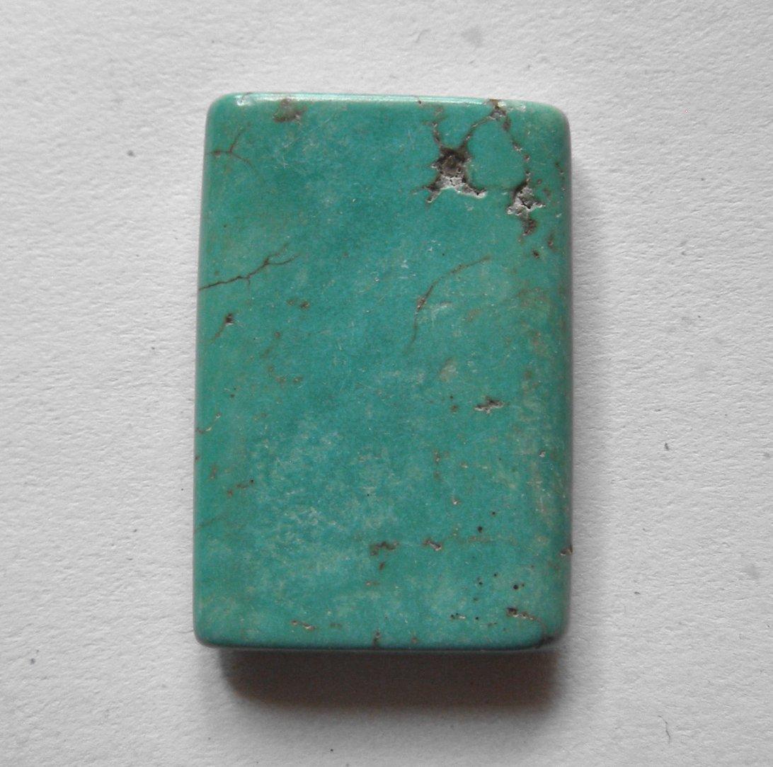 Turquoise 37x26 Rectangle Pendant Bead