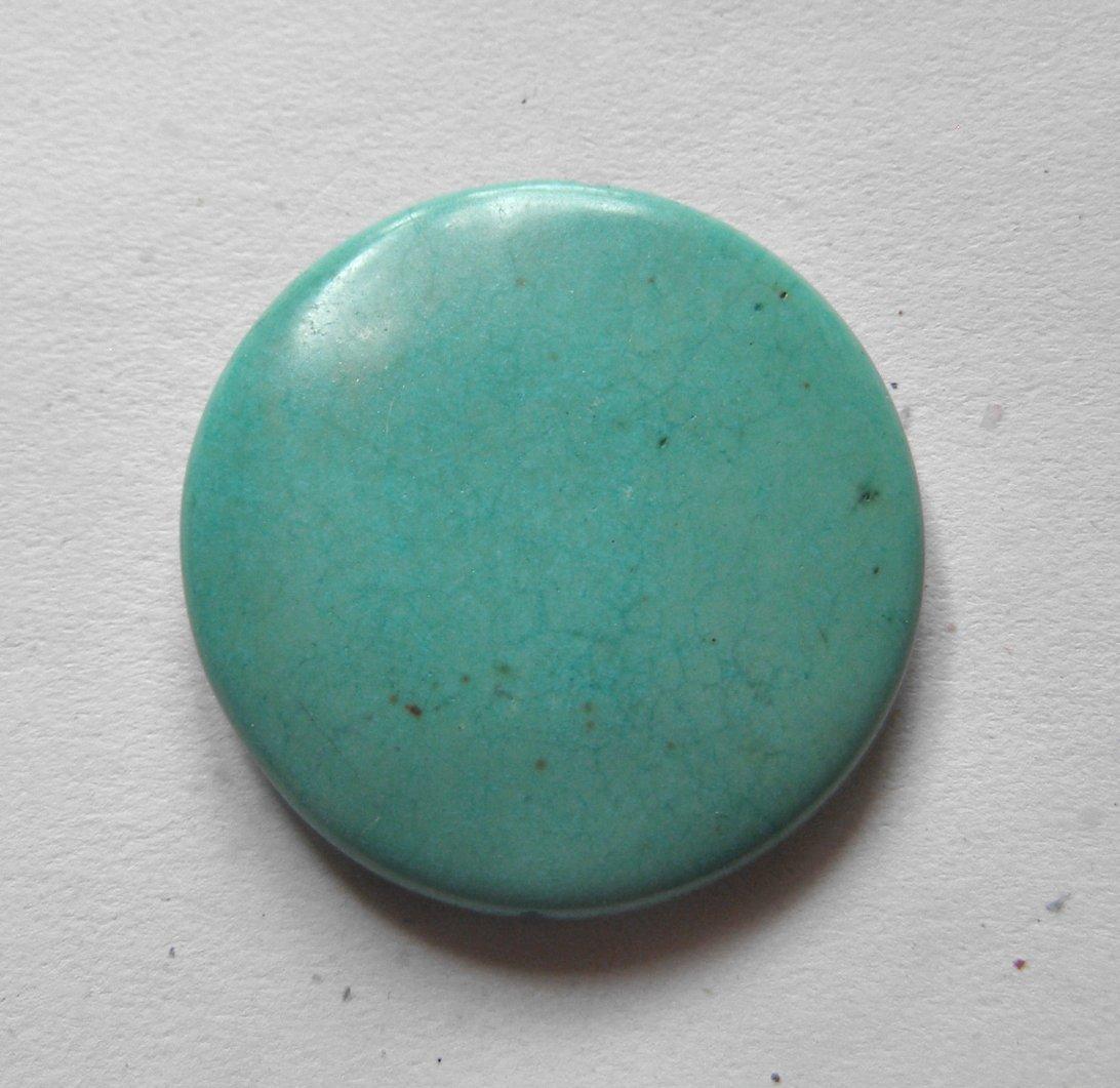 Turquoise Magnesite 37mm Disc Pendant Bead