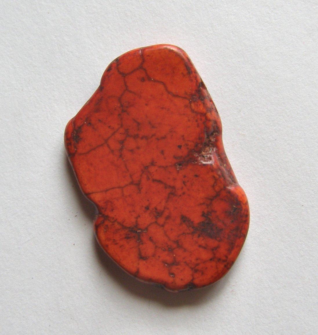 Orange Magnesite 41x26 Slab Pendant Bead