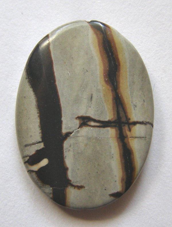 Nature's Paintbrush Jasper 31x23 Oval Pendant Bead