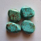 4 Turquoise 22x15 Faceted Nugget Beads