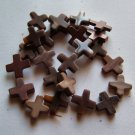 "Ribbon Jasper 16x16 Cross Beads 15"" strand"