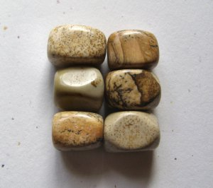 6 Picture Jasper 18x13x12 Nugget Beads