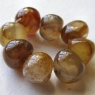 8 Carnelian Agate 14x12 Polished Pebble Beads