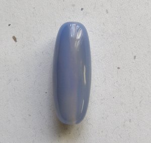 Blue Chalcedony 40x15 Tube Pendant Bead