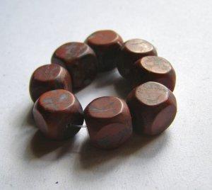 8 Brecciated Jasper 12x12 Cube Pendant Beads