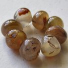 8 Carnelian Agate 11x10 Polished Pebble Beads