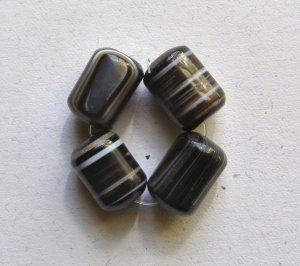 4 Sardonyx 18x13 Drum Beads