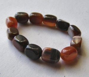 12 Petrified Wood 12x8 Rectangle Nugget Beads