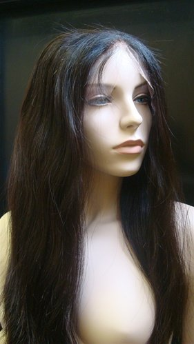 "Chinese Virgin Natural Color  28"" full lace Unit"