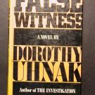 False Witness by Dorothy Uhnak (1981, Hardcover)