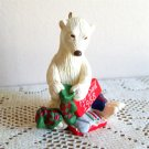 Dad Polar Bear sorting his Christmas Socks Hallmark Ornament 1988