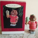 Granddaughter Hallmark Christmas Ornament 1994 Beaver Ice Cream