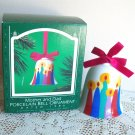 1986 Mother and Dad Porcelain Bell Hallmark Ornament Colorful Candles