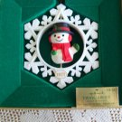 Hallmark Twirl About Snowman Christmas Ornament 1977 in Box