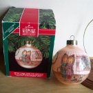 Betsey Clark Home for Christmas Fifth in Series Hallmark Ornament 1990 Pink Glass Ball