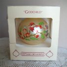 Pixies Godchild Hallmark Christmas Ornament Glass Teardrop Ball