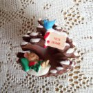 Hallmark New Home Pinecone House 2000 Christmas Ornament Mouse