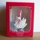 1988 Hallmark Christmas Ornament Sweetheart Swan Sleigh