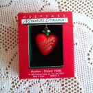 Mother Hallmark Miniature Ornament Christmas 1988 Red Heart