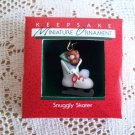 Snuggly Skater Hallmark 1988 Miniature Christmas Ornament