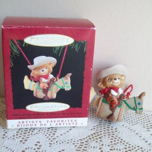Barrel Back Rider Hallmark Christmas Ornament 1994