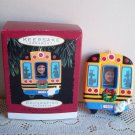 School Bus Hallmark Christmas Photo Holder Ornament 1996 On My Way