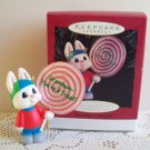 Hallmark Grandson Rabbit with Lollipop 1995 Christmas Ornament