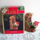 Hallmark Magic Ornament Santa's Hot Line Lights 1991