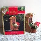 Hallmark Magic Ornament Santa's Hot Line Lights 1991