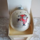 Hallmark Jolly Santa Glass Ball 1980 Christmas Ornament