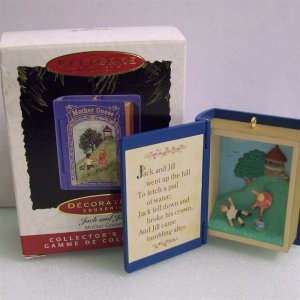 Third 3 in Mother Goose Series Jack and Jill Hallmark Christmas Ornament 1995