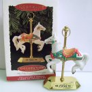 Carousel Horse Tobin Fraley 3rd in Series Fine Porcelain and Brass 1994