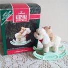 A Childs Christmas 1992 Hallmark Lamb Ornament Fuzzy