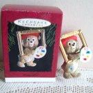 Beary Gifted 1993 Hallmark Christmas Ornament teddy artist