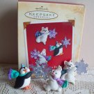 Set of 3 Hallmark Miniature Woodland Frolics Ornaments 2002