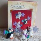Set of 3 Hallmark Miniature Woodland Frolics Ornaments 2002