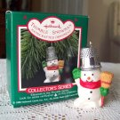 Thimble Snowman 11th in Series Hallmark Christmas Ornament 1988