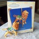 Carousel Ride Majestic Lion 2004 1st in Series Hallmark Christmas Ornament