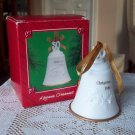 Fifty 50 Years 1986 Hallmark Bell Ornament White and Gold