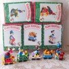 Mickey Express Hallmark 1998 Miniatures Pluto, Donald, Goofy Disney