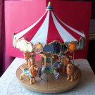 Hallmark Carousel Ride 2004 Music Lights Display w Six Majestic Lions and Horse